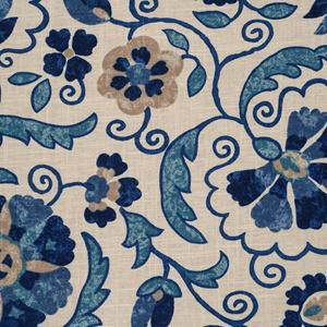 Blue Floral Scroll