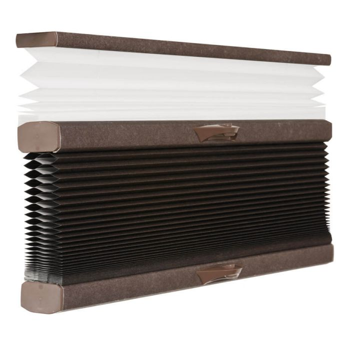 "1/2"" Double Cell Designer Blackout Trishade Honeycomb Shades 5391"