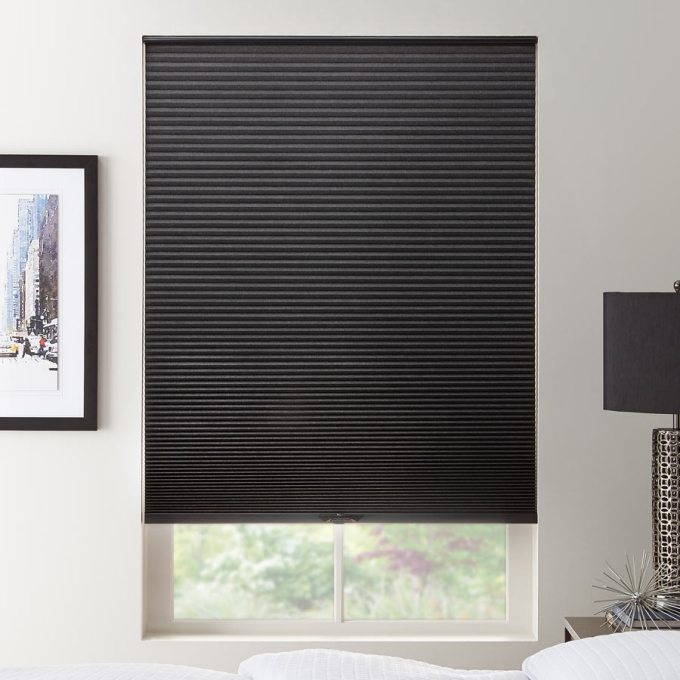 """1/2"""" Double Cell Value Blackout Honeycomb Shades 5559"""