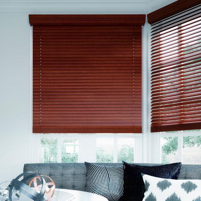 """2"""" Designer Faux Wood Blinds 7010"""