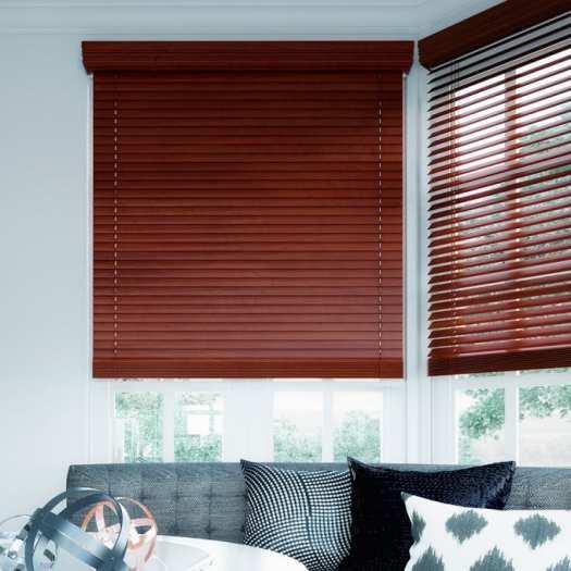 "2"" Designer Faux Wood Blinds 7010 Thumbnail"