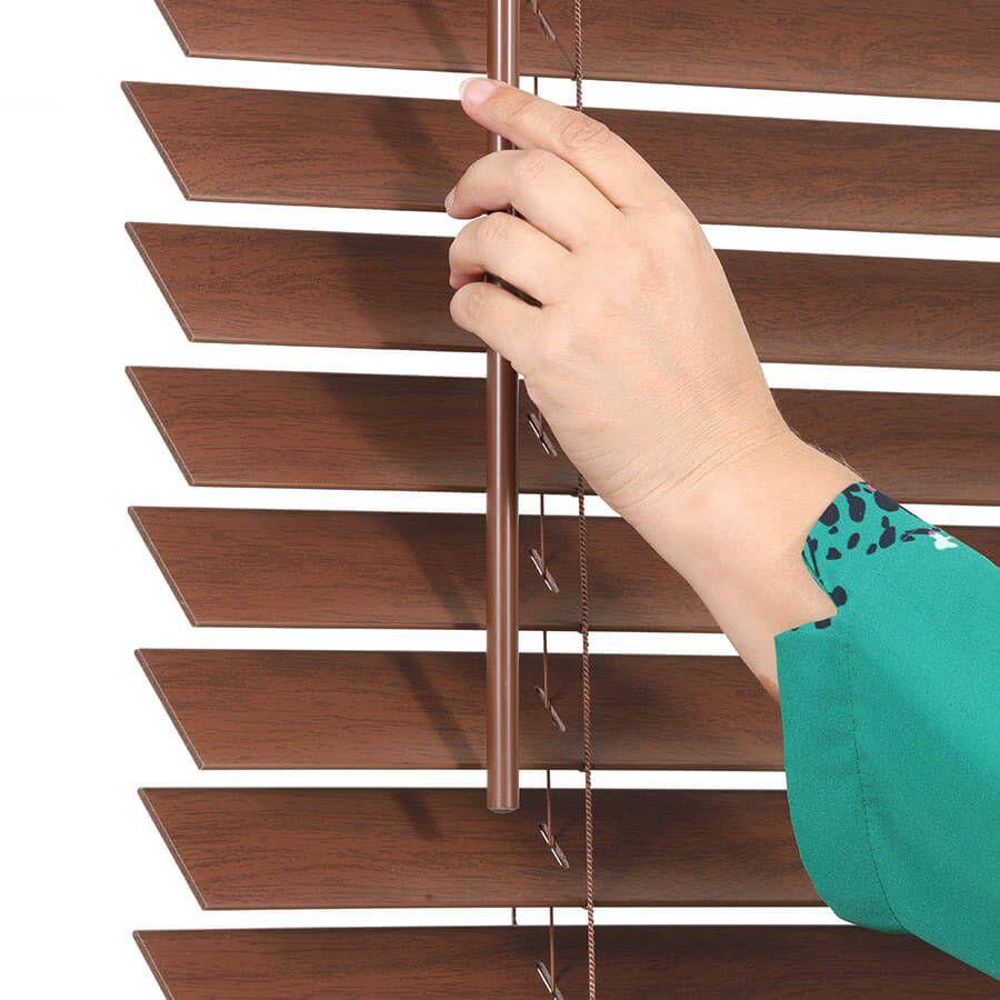 "2"" Value Cordless Faux Wood Blinds 6953"
