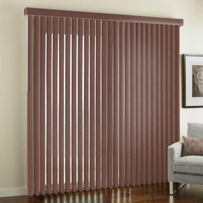 """3 1/2"""" Premium Faux Wood Vertical Blinds 4846"""