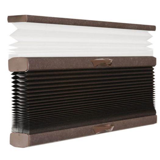 "3/4"" Single Cell Designer Blackout Trishade Honeycomb Shades 5448 Thumbnail"