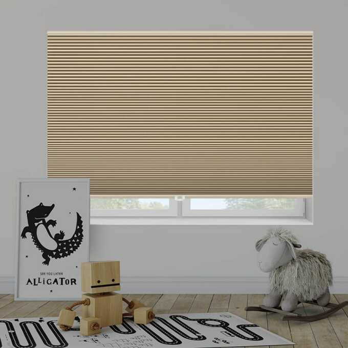 Designer Double Cell Blackout Honeycomb Shades 4369