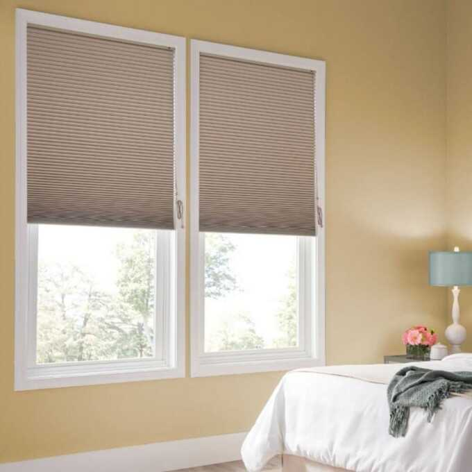 Designer Double Cell Blackout Honeycomb Shades 4370