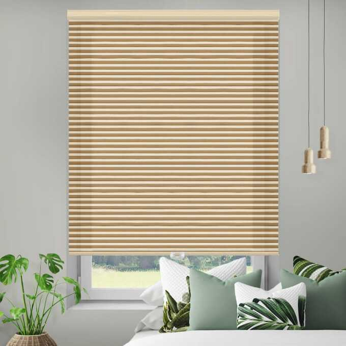 Designer Double Cell Light Filtering Honeycomb Shades 4349