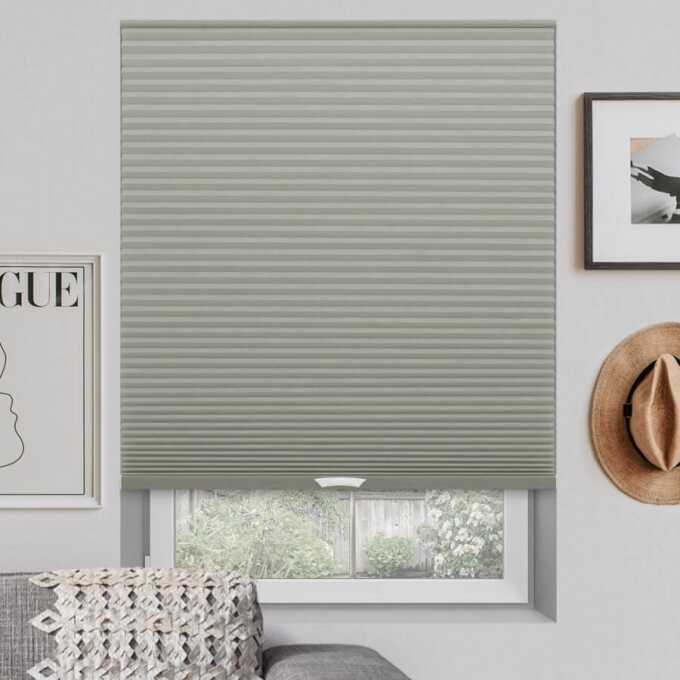 Designer Luxe Cordless Blackout Honeycomb Shades 8682