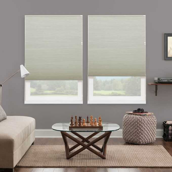 Designer Luxe Cordless Blackout Honeycomb Shades 8688