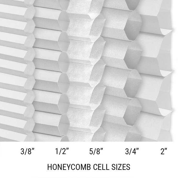 Designer Luxe Cordless Light Filtering Honeycomb Shades 8673