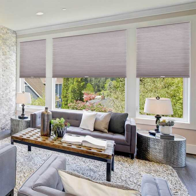 Designer Luxe Cordless Light Filtering Honeycomb Shades 8674
