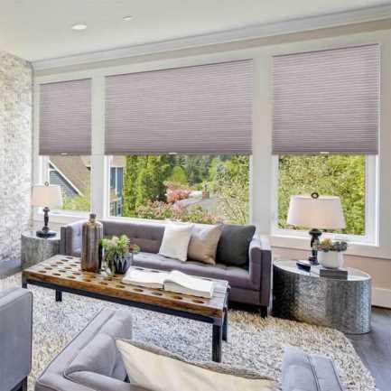 Designer Luxe Cordless Light Filtering Honeycomb Shades 8674 Thumbnail