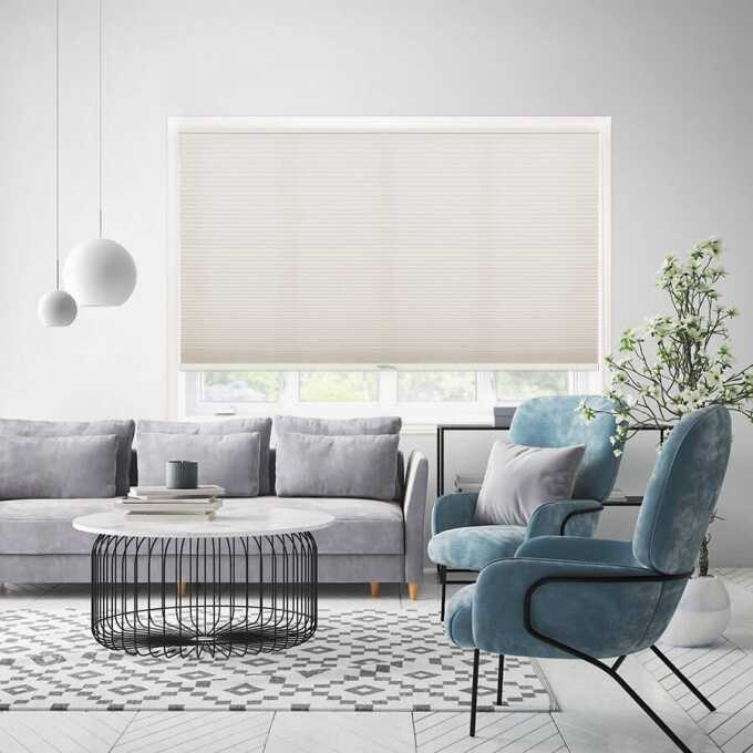Designer Luxe Cordless Light Filtering Honeycomb Shades 8657