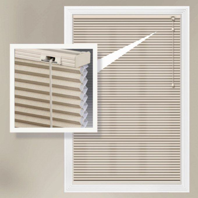 Designer Single Cell Blackout Honeycomb Shades 8864