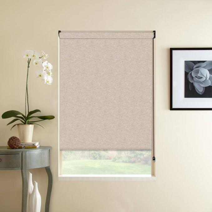Designer Woven Light Filtering Roller Shades 7688