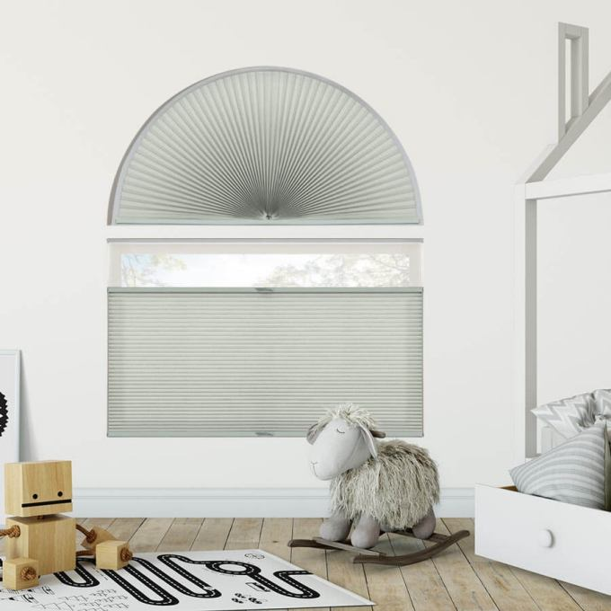 Double Cell Light Filtering Arch Window Shades 7333