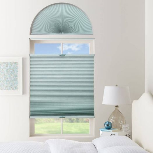 Double Cell Light Filtering Arch Window Shades 7334 Thumbnail