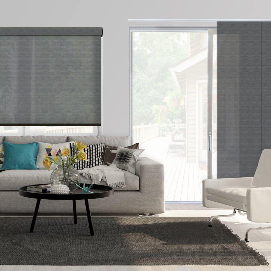 Panneaux coulissants de luxe en toile solaire 3% 5796