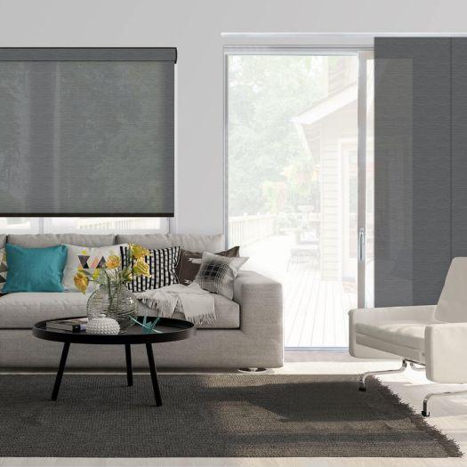 Panneaux coulissants de luxe en toile solaire 3% 5796 Thumbnail