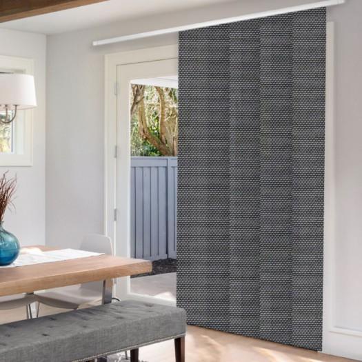 Panneaux coulissants de luxe en toile solaire 5% 5791 Thumbnail