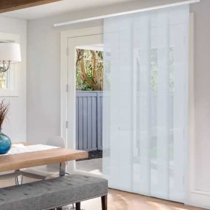 Premium Light Filtering Fabric Panel Track Blinds 4577 Thumbnail