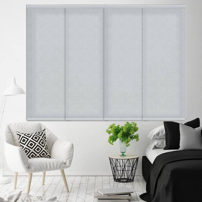 Premium Light Filtering Fabric Panel Track Blinds 4578