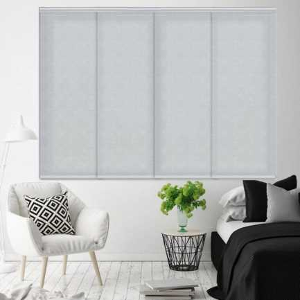 Premium Light Filtering Fabric Panel Track Blinds 4578 Thumbnail