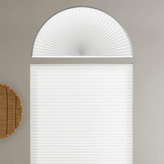 Stores cellulaires filtres de lumière à cellule simple pour fenêtres en arche 7167
