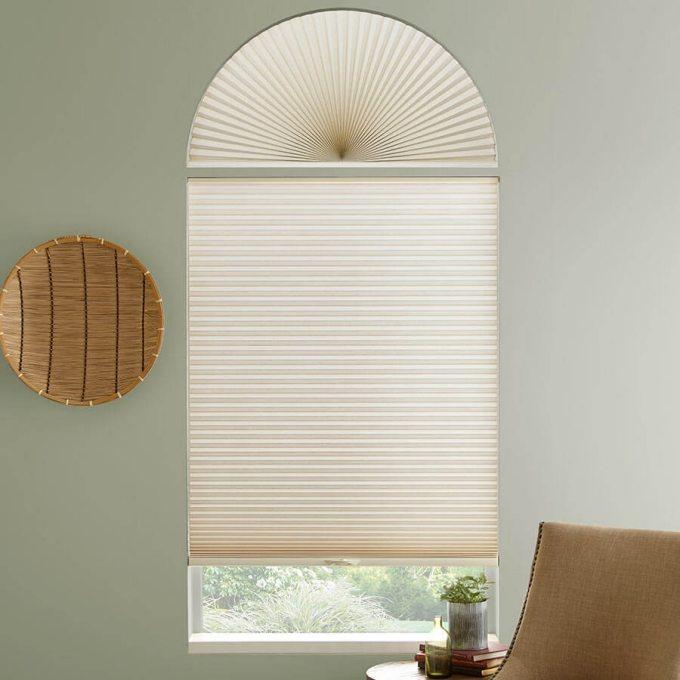 Stores cellulaires filtres de lumière à cellule simple pour fenêtres en arche 7172