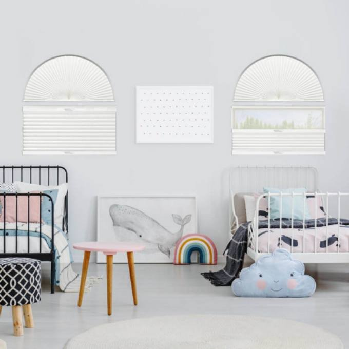 Single Cell Blackout Arch Window Shades 7306