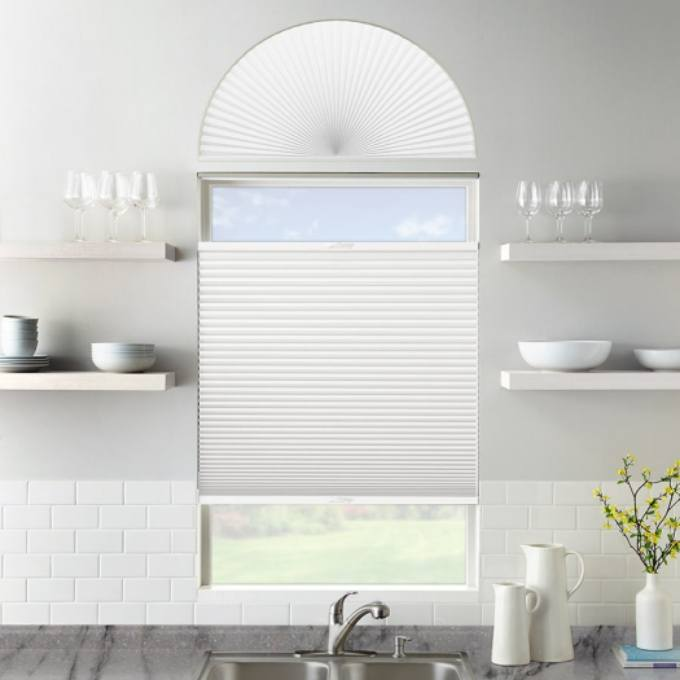 Single Cell Blackout Arch Window Shades 7315