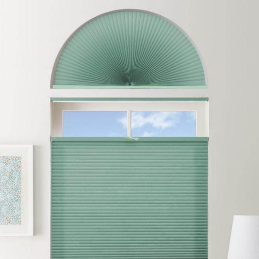 Stores cellulaires filtres de lumière à cellule double pour fenêtres en arche 7330 Thumbnail
