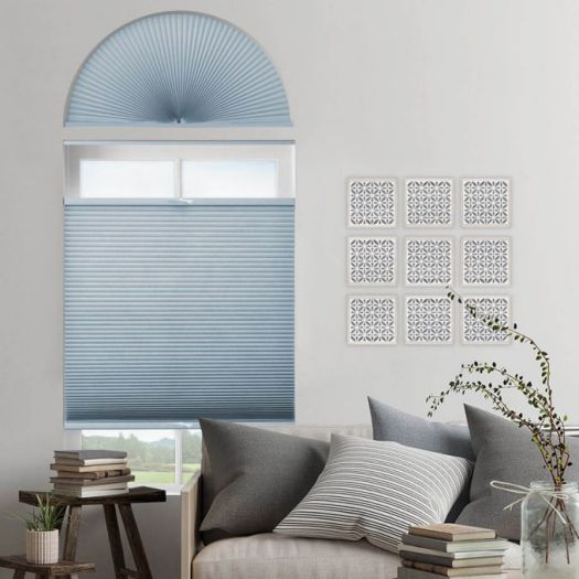 Stores cellulaires filtres de lumière à cellule double pour fenêtres en arche 7332 Thumbnail
