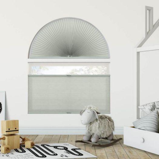 Stores cellulaires filtres de lumière à cellule double pour fenêtres en arche 7333 Thumbnail