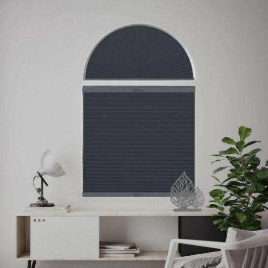 Stores cellulaires noircissants à cellule simple pour fenêtres en arche 7312 Thumbnail