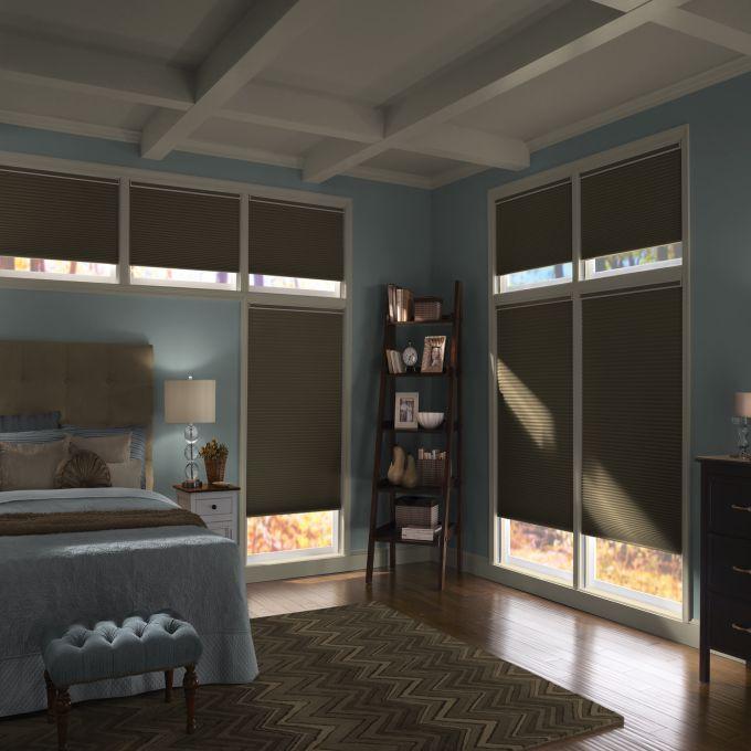 Stores cellulaires noircissants décorateur plus slumber à cellule double de 3/8 po 4256