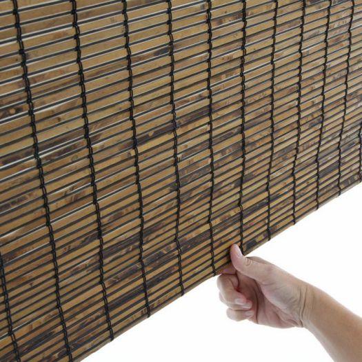Stores en bambou/bois tissé de luxe 7218 Thumbnail