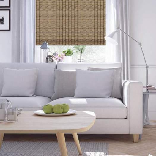 Stores en bambou/bois tissé de luxe 5504 Thumbnail