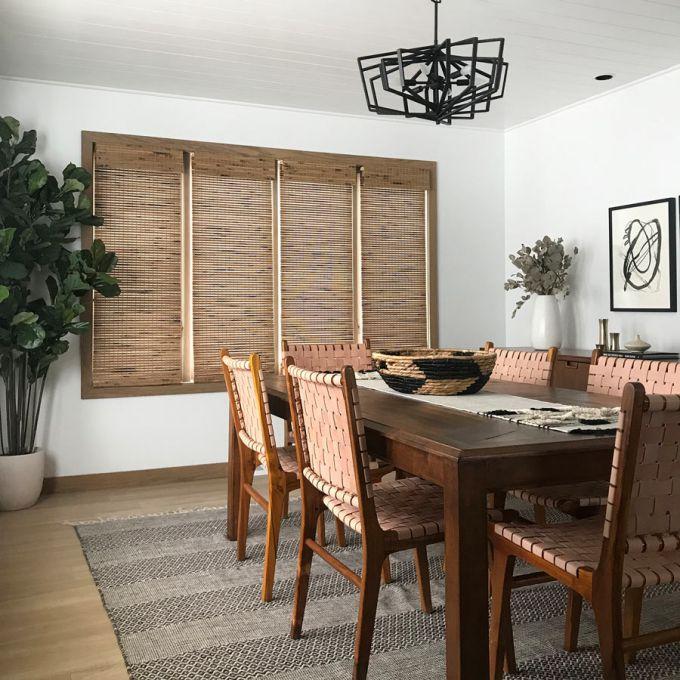 Stores en bambou/bois tissé de luxe 5505