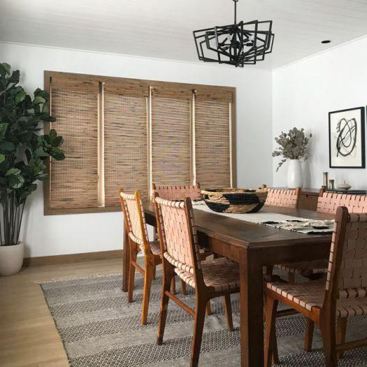 Stores en bambou/bois tissé de luxe 5505 Thumbnail