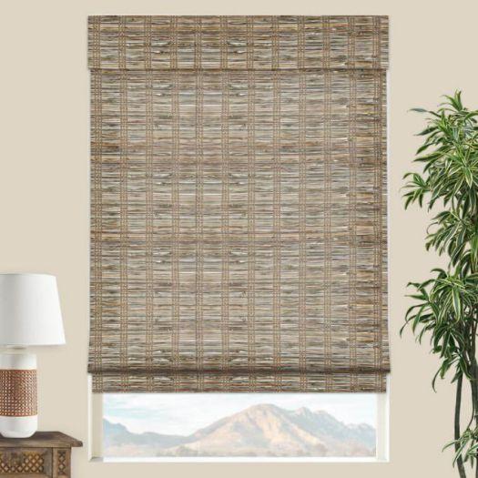 Stores en bambou/bois tissé de luxe plus 5342 Thumbnail