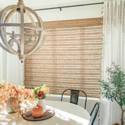 Stores en bambou/bois tissé de luxe plus 8620 Thumbnail