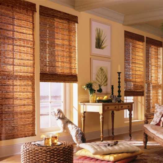 Stores en bambou/bois tissé de luxe plus 5345 Thumbnail