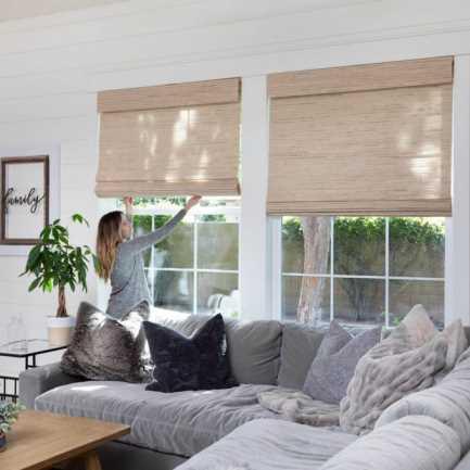 Stores en bois tissé/bambou décorateur 8589 Thumbnail
