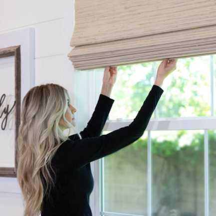 Stores en bois tissé/bambou décorateur 8590 Thumbnail