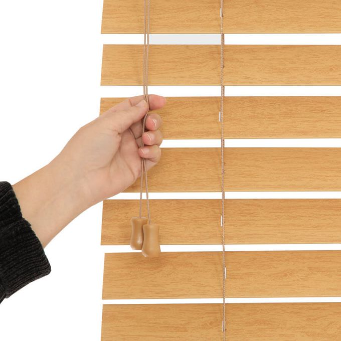 Stores imitation bois de luxe de 2 1/2 po 8823