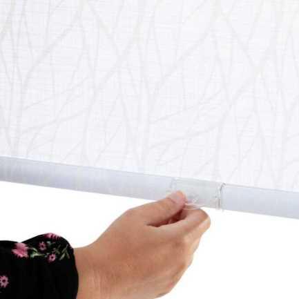 Toiles à rouleau blanches à relief Décorateur 8504 Thumbnail