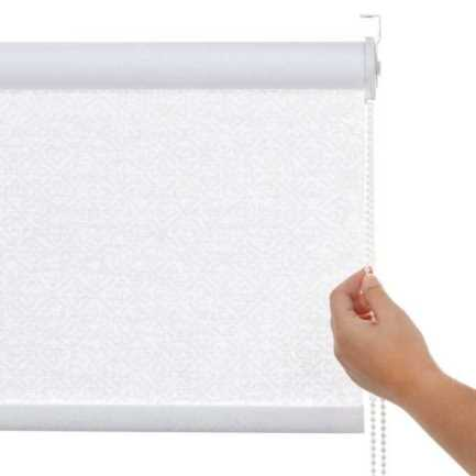Toiles à rouleau blanches à relief Décorateur 8515 Thumbnail