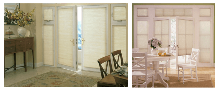 Cellular Shades are great for french doors!