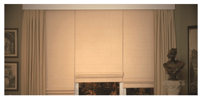 Roman Shades are great for your french doors